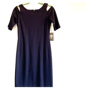 Vince Camuto Cold Shoulder Navy Dress